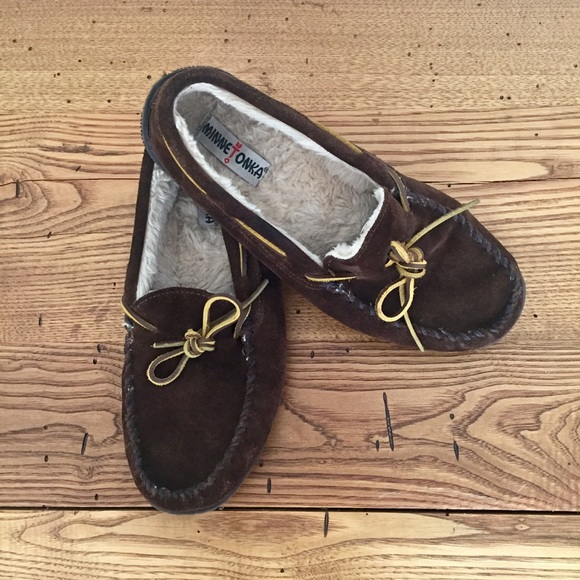 Dark Brown Mens Slippers Size 11